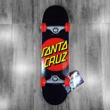 """Santa Cruz Classic Dot Black Skateboard Complete - 7.25"""""""