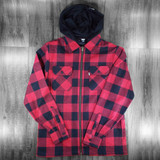 DGK Lumberjack Shacket - Red/Black