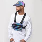 Official Dichroic Dark Tech Dad Hat - Rainbow Reflective