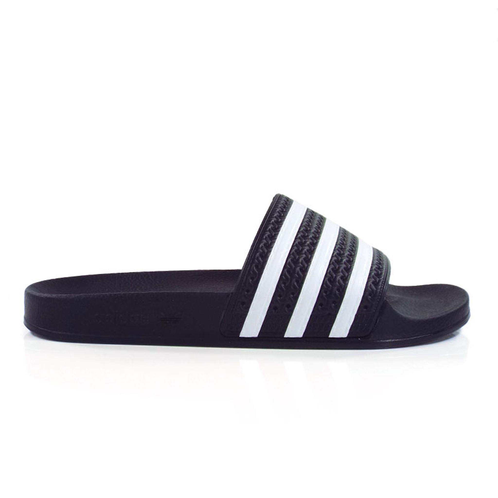 10178b8fa0849 Adidas Originals Adilette Slides - Black White - Detroit City ...