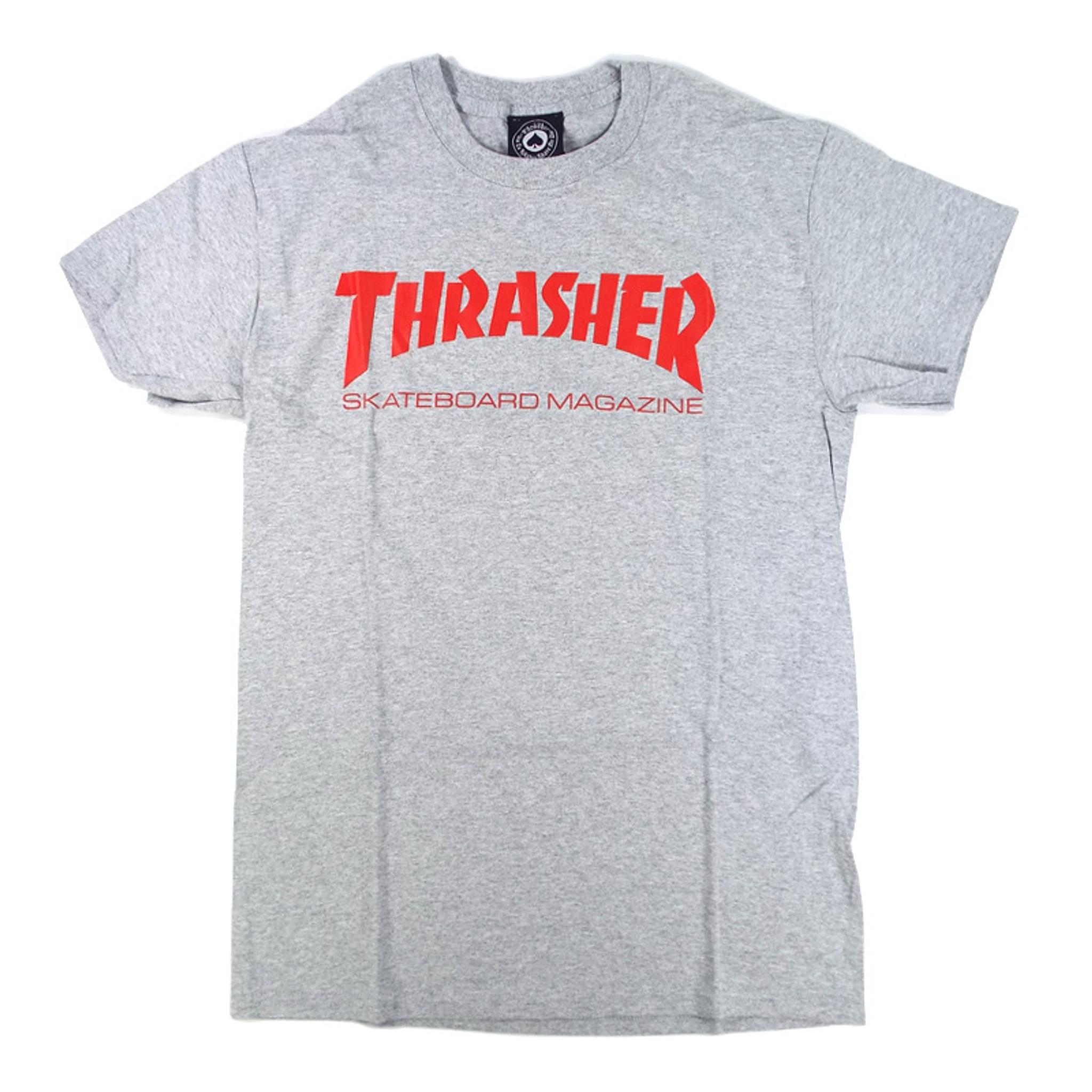 2c0b43695b94 Thrasher Skate Mag T-Shirt - Heather Grey/Red - Detroit City ...