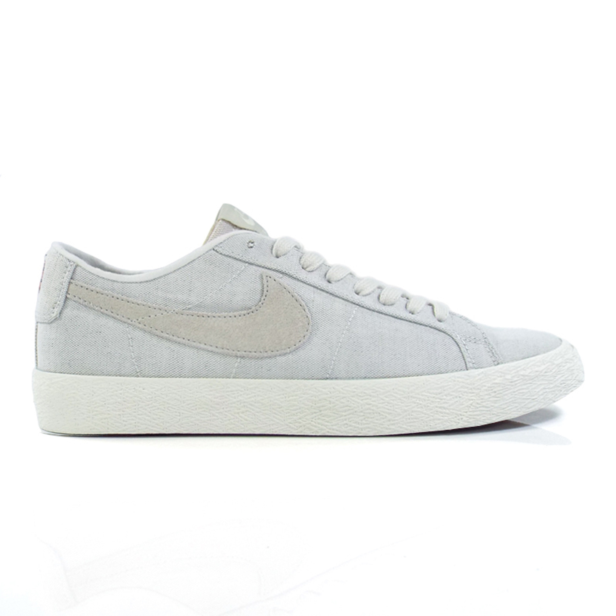 first look outlet on sale cute cheap Nike SB Zoom Blazer Low Canvas Decon Shoes - Phantom/Light Bone-Habanero Red