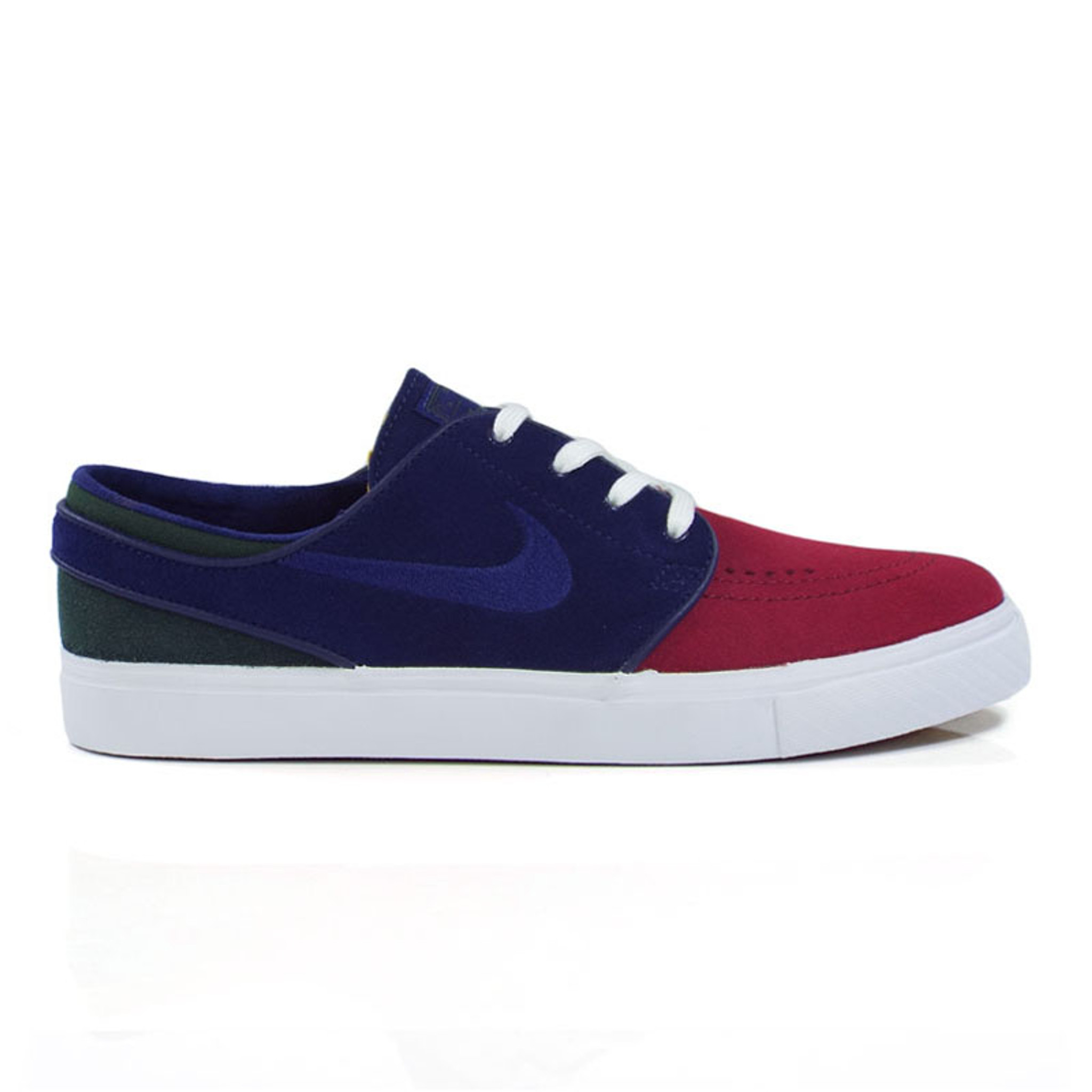 texto Predicar Peregrinación  Nike SB Zoom Stefan Janoski Shoes - (Yacht Club) Red Crush/Blue Void-White-Midnight  Green - Detroit City Skateboards Co.