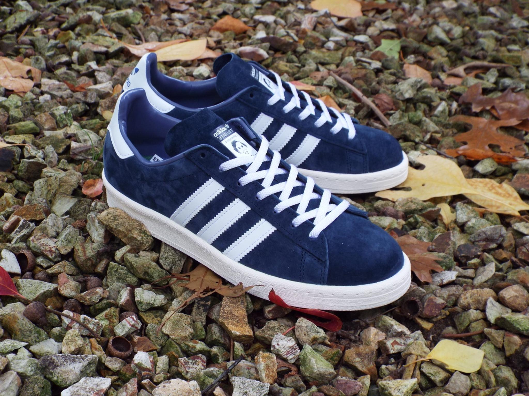 sélection premium 88017 3ab82 Adidas Campus 80s RYR (Brian Lotti) Shoes - Collegiate Navy/White