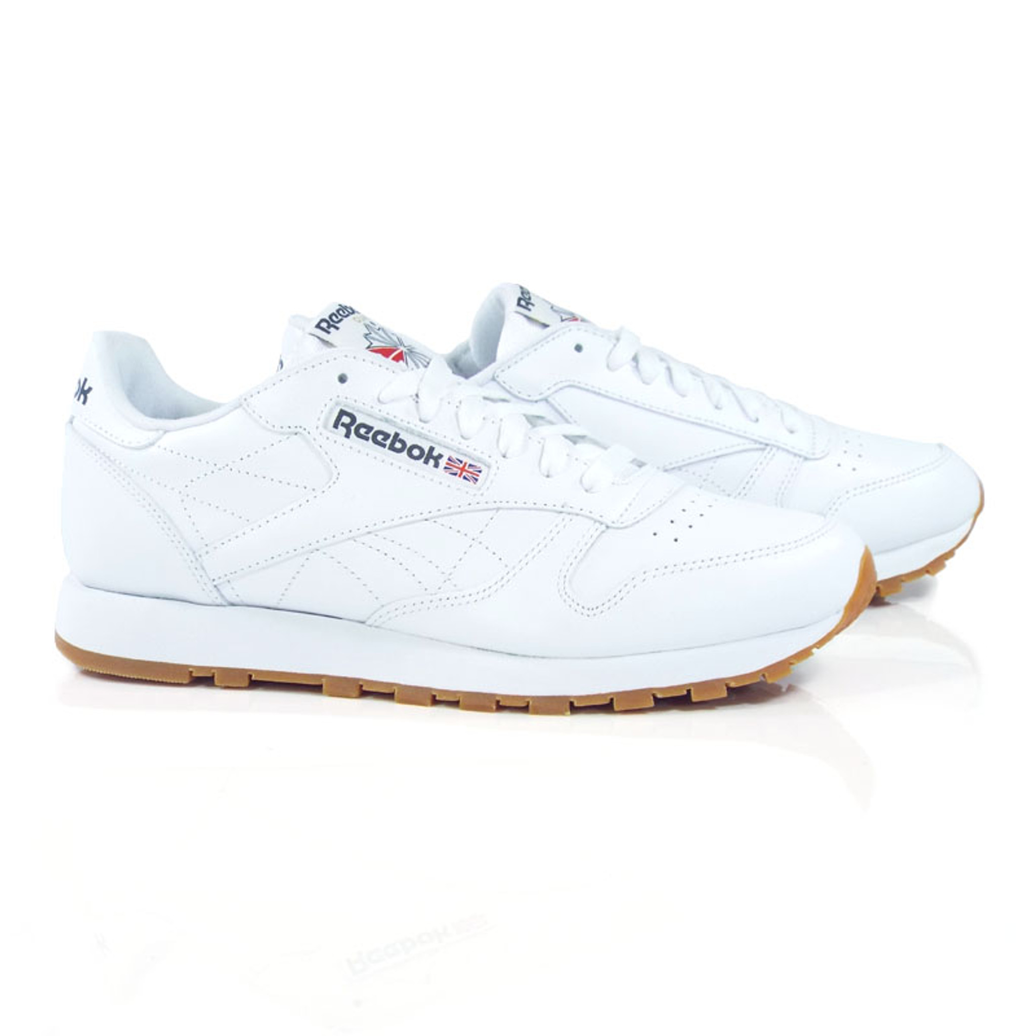 4262fd6bb Reebok Classic Leather Shoes - White/Gum - Detroit City Skateboards Co.