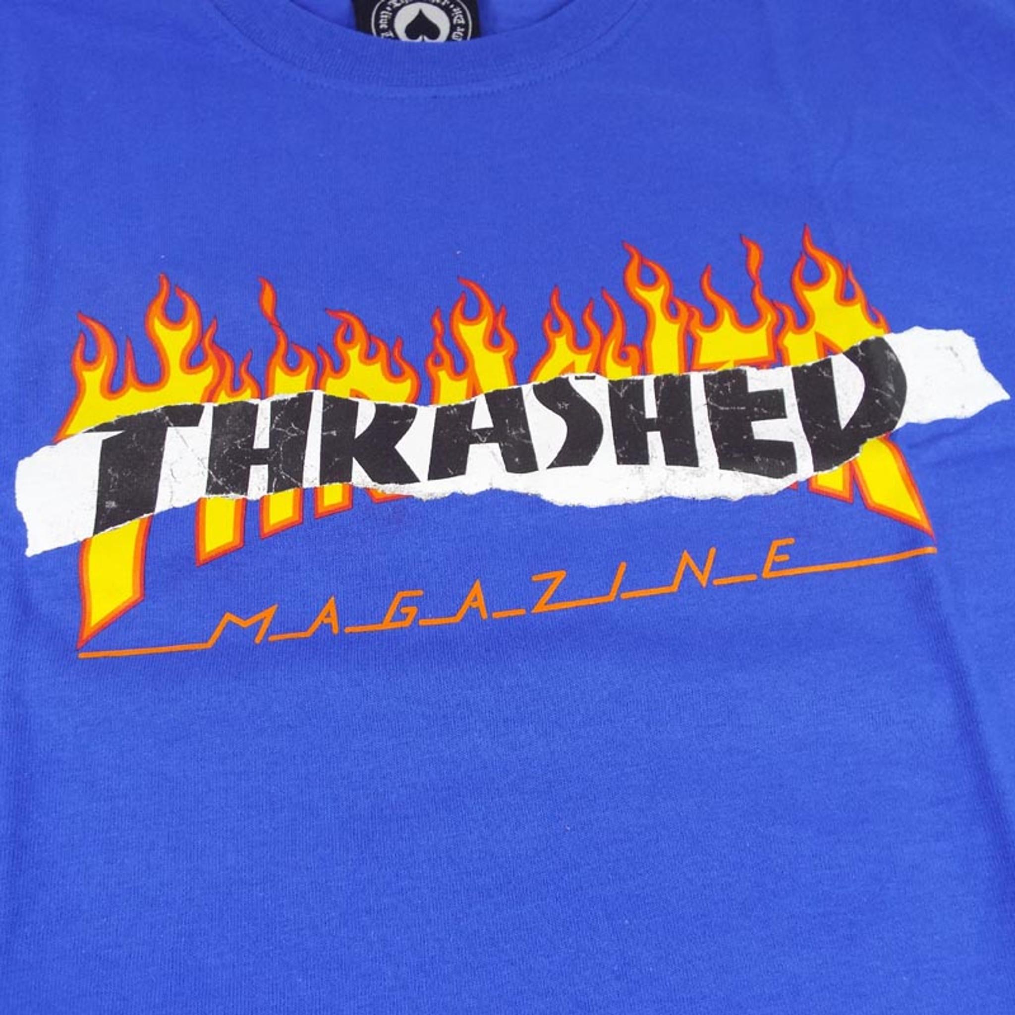7ac68dada6f7 Thrasher Ripped T-Shirt - Royal Blue - Detroit City Skateboards Co.