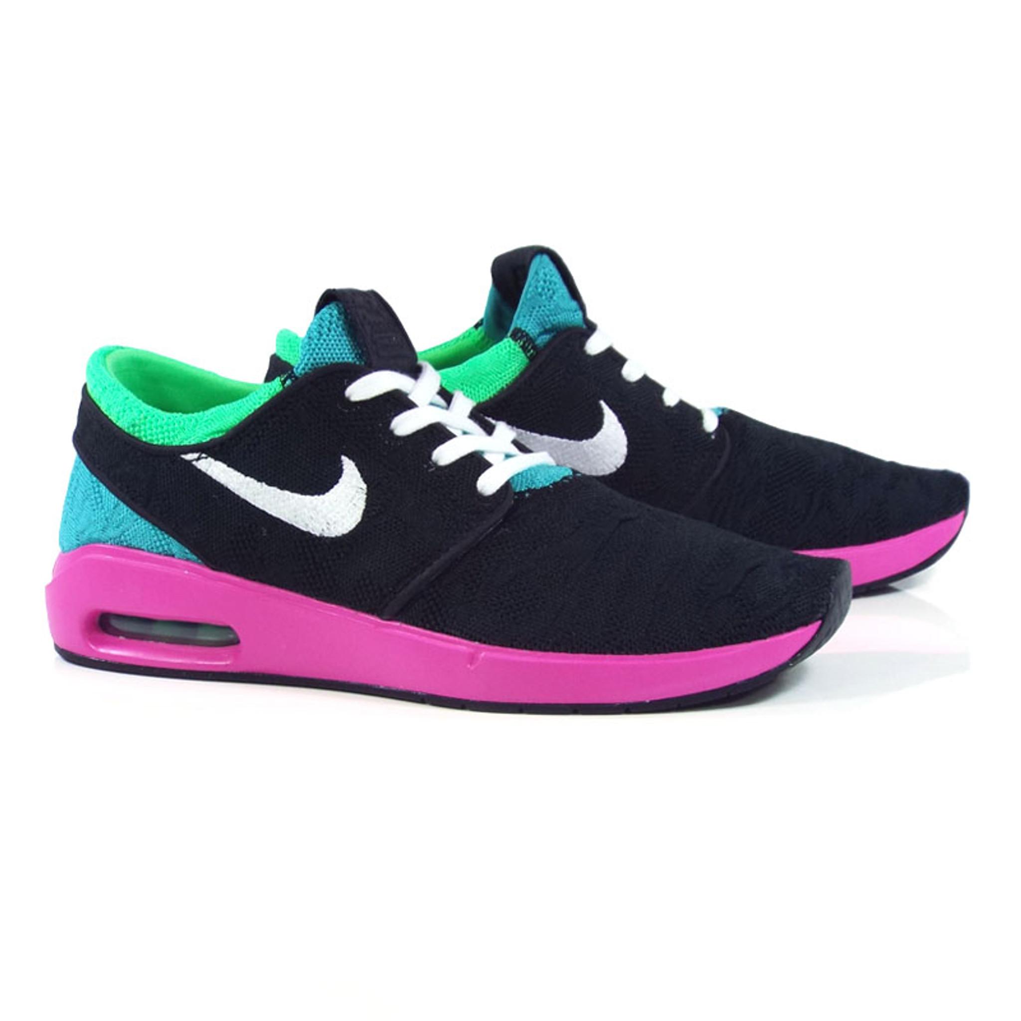 Nike SB Janoski Air Max 2 Shoes BlackWhite Cabana Electro Green