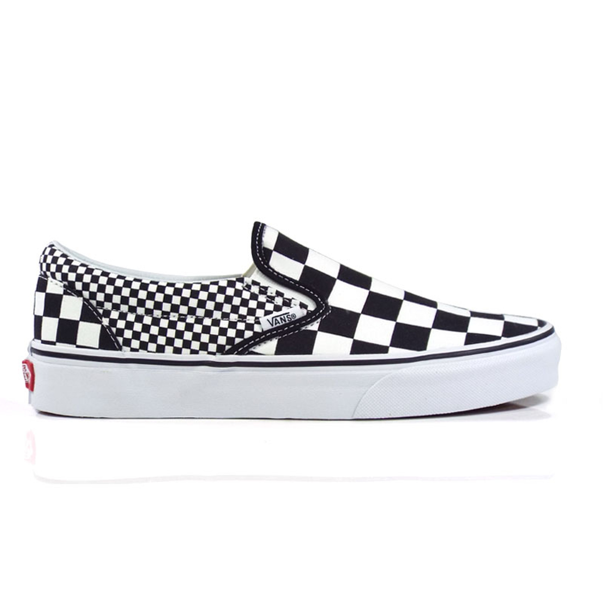 37ec8937bef6 Vans Classic Mix Checker Slip On Shoes - Black/True White - Detroit ...