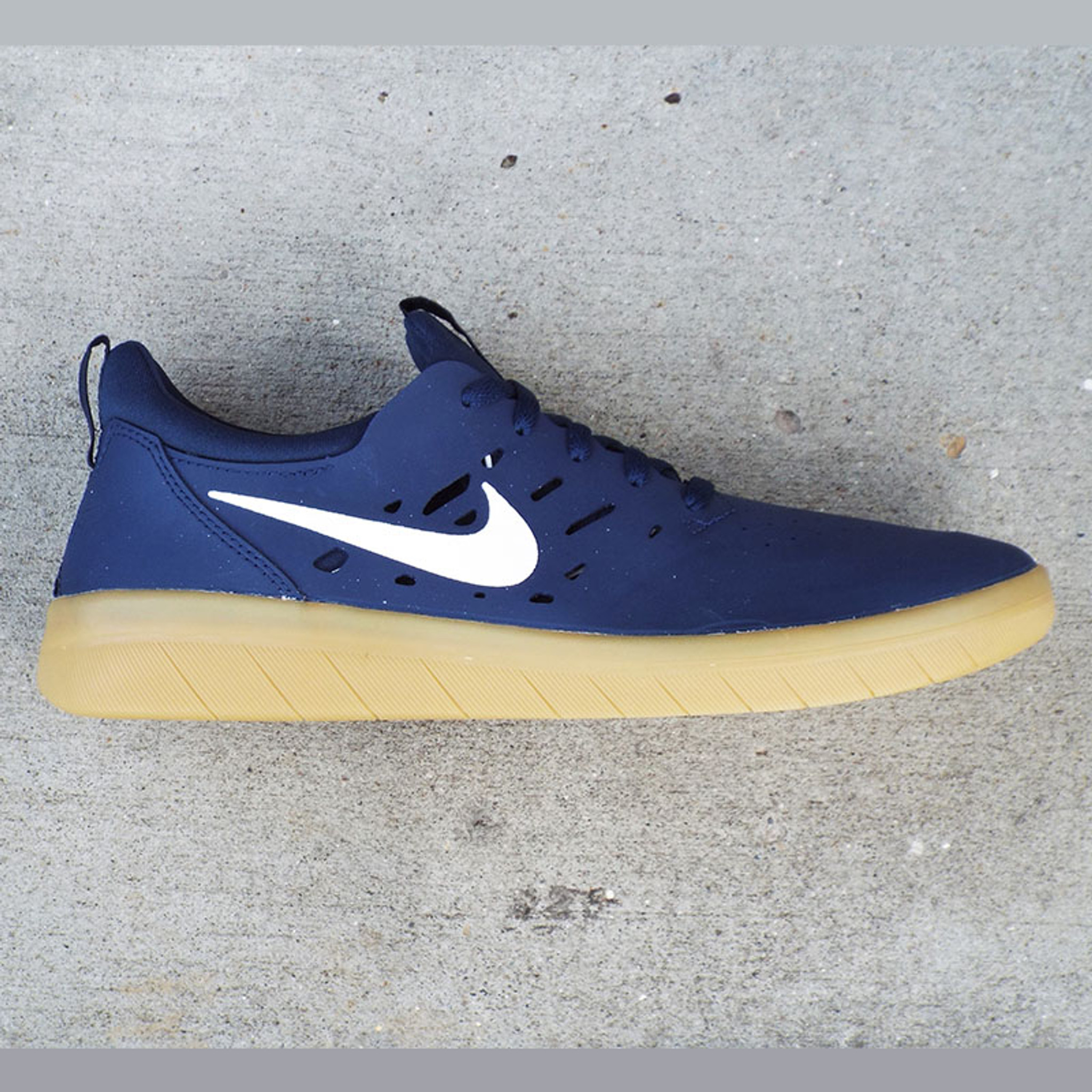 genuine shoes first look authentic quality Nike SB Nyjah Free Shoes - Midnight Navy/Summit White-Midnight Navy