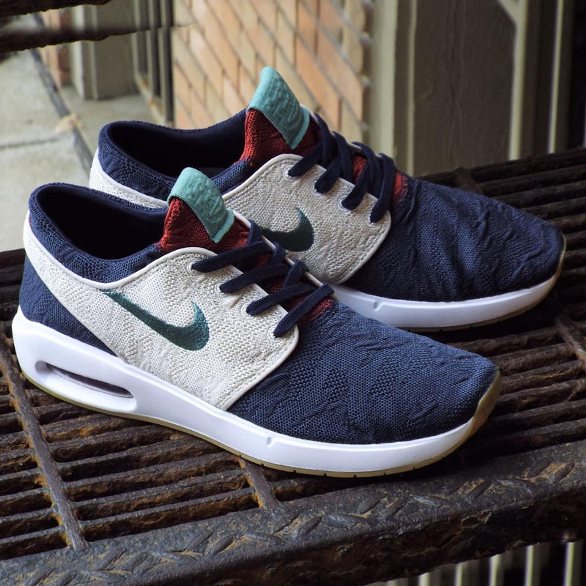 Posicionar cascada Una noche  Nike SB Air Max Janoski 2 Shoes - Obsidian/Bicoastal-Desert Sand - Detroit  City Skateboards Co.