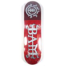 """Element Bam LTD Skate Red Skateboard Deck - 8.25"""""""