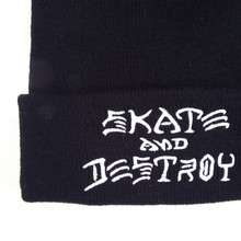 Thrasher Skate & Destroy Beanie - Black