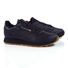 Reebok Classic Leather Shoes - Black/Gum