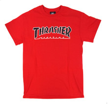 Thrasher Outlined T-Shirt - Cardinal