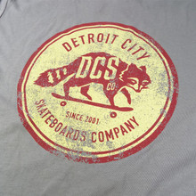 DCS Raccoon Distressed Logo T-Shirt -  Grey