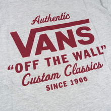 Vans Holder St Classic T-Shirt - Athletic Heather/Biking Red