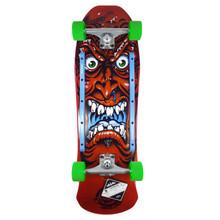 "Santa Cruz Roskopp Face 80s Red Cruzier Skateboard Complete - 9.5"" x 31"""