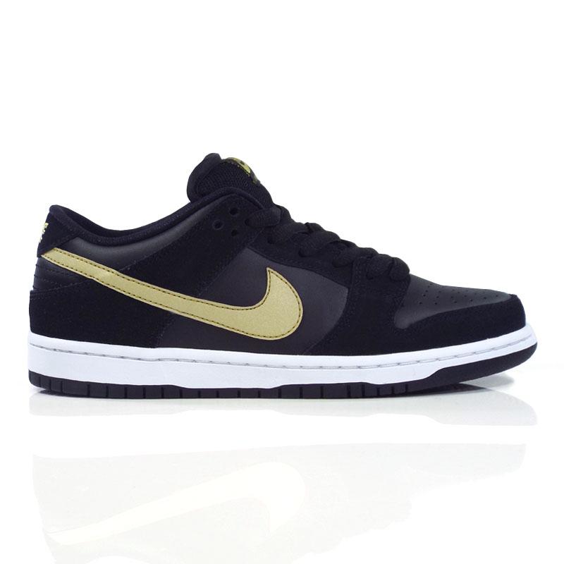 new style 596f6 9f313 Nike SB Zoom Dunk Low Pro (Takashi) Shoes - Black Metallic Gold- White -  Detroit City Skateboards Co.