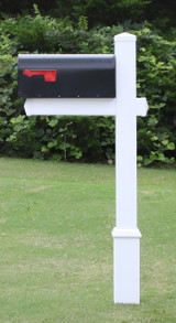 Homestead Mailbox with Flat Cap