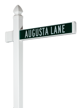 Vinyl Street Sign System with Single Blade and Gothic Cap