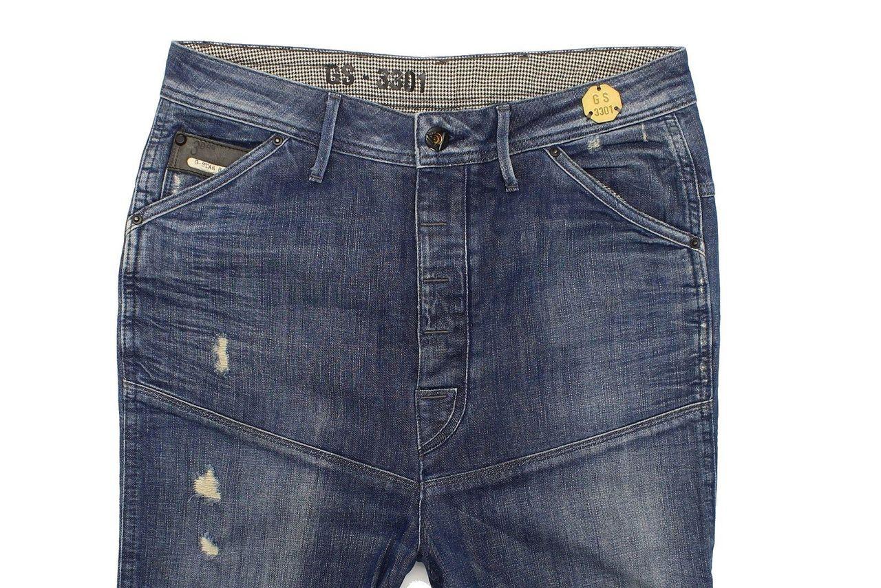 b6ef9be0d1c G-Star Dean Drop Crotch Mens Blue Loose Jeans W27 L32 (30229 ...
