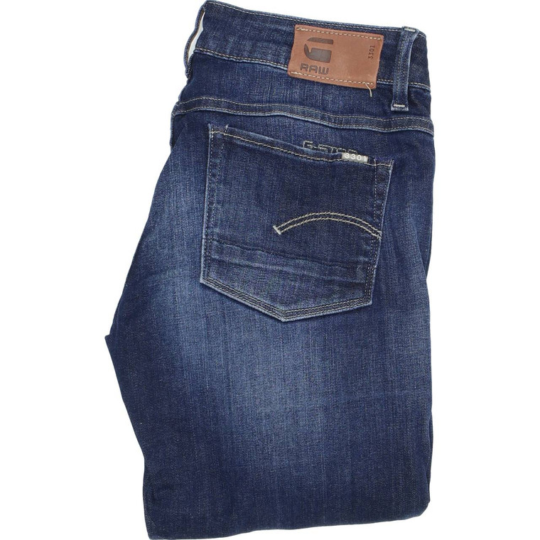 G-Star 3301 Bootcut Regular W27 L34 Jeans in Good used condition with some wear to the hems. Fast & Free UK Delivery. Buy with confidence from Fabb Fashion. image 1