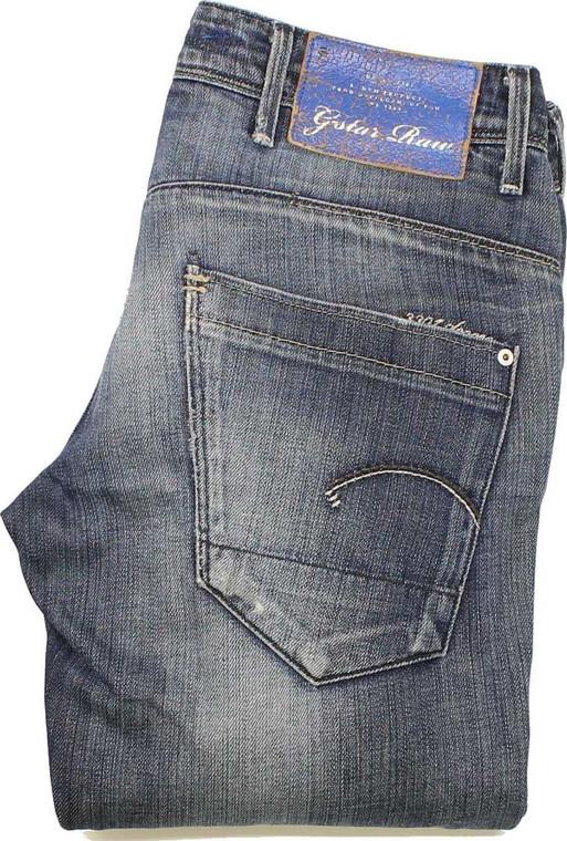 G-Star Low T Womens Blue Tapered, Skinny & Slim Jeans W26 L32 image 1
