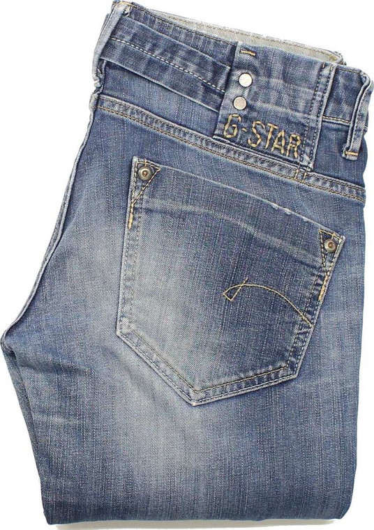G-Star Womens Blue Straight Stretch Jeans W28 L28 image 1
