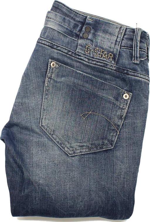 G-Star Womens Blue Straight Stretch Jeans W28 L32 image 1