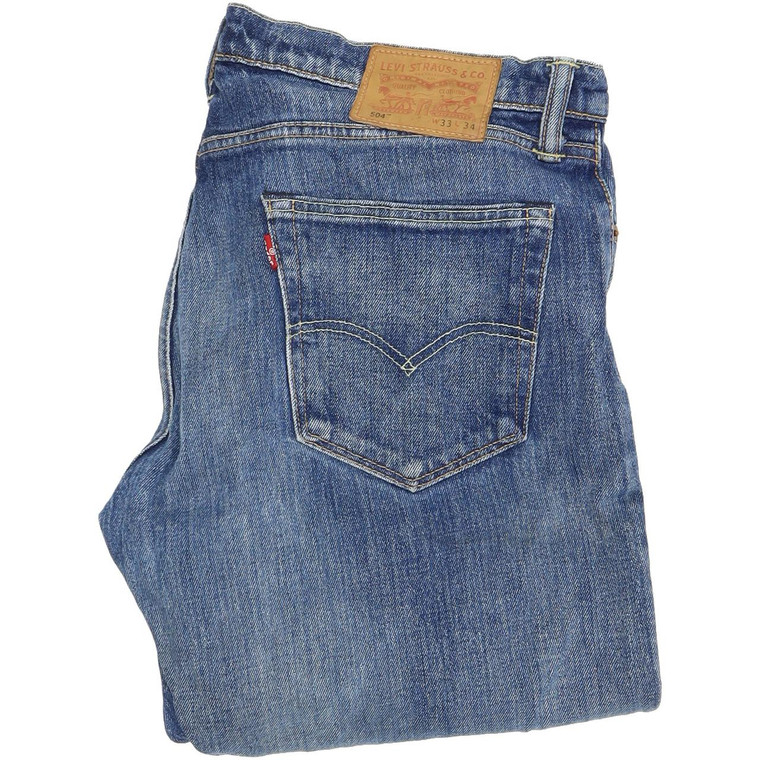Levi's 504 Straight Regular W33 L34 Jeans in Good used conditionplease note the left knee is ripped. Fast & Free UK Delivery. Buy with confidence from Fabb Fashion. image 1