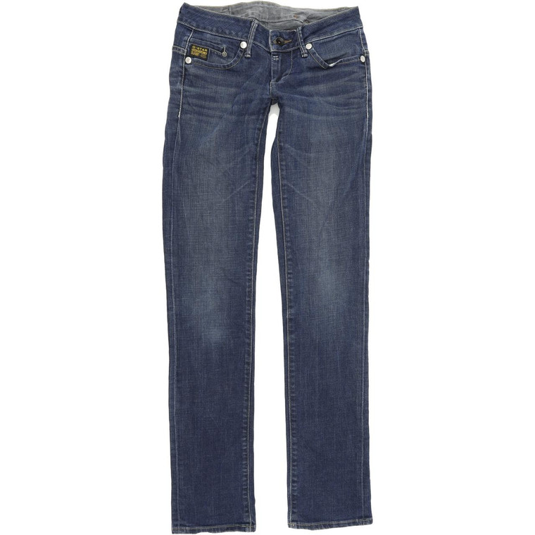 G-Star Midge Women Blue Straight Regular Stretch Jeans W26 L34 (54207)