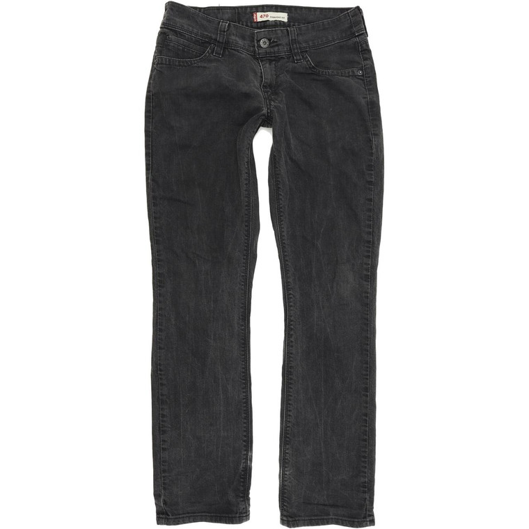 Levi's 470 Straight Regular W30 L32 Jeans in Good used conditionwith some wear to the hems and small hole to the left hem. Fast & Free UK Delivery. Buy with confidence from Fabb Fashion. image 1