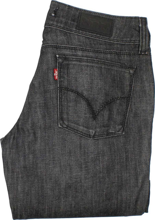 Levi's 570 Womens Charcoal Straight Stretch Jeans W30 L30 image 1