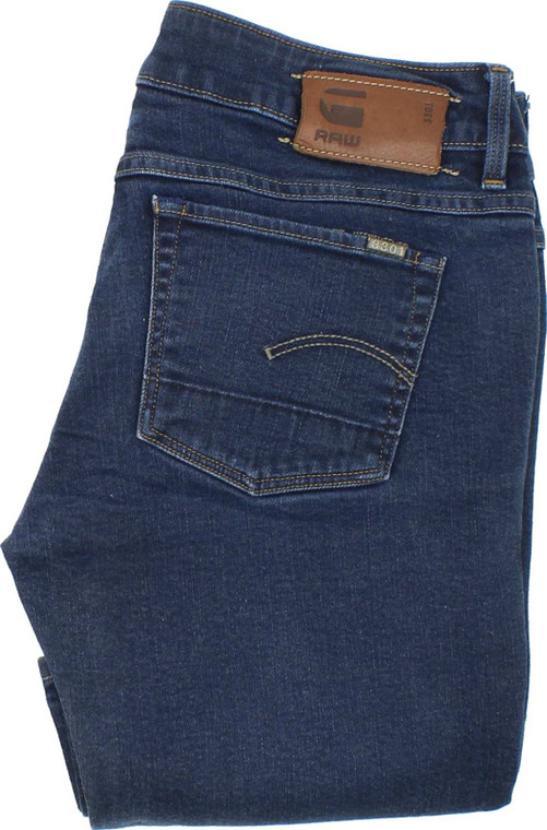 G-Star 3301 Womens Blue Bootcut Stretch Jeans W28 L30 image 1