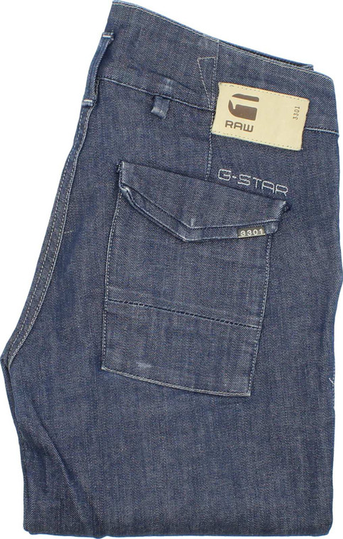 G-Star Adel Chino Womens Blue Straight Jeans W26 L28 image 1