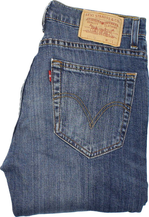 Levi's 753 Mens Blue Slim Stretch Jeans W30 L32 image 1