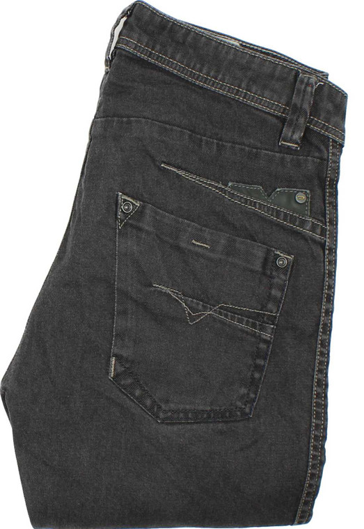 Diesel Darron Mens Grey Slim, Tapered Stretch Jeans W27 L30 image 1