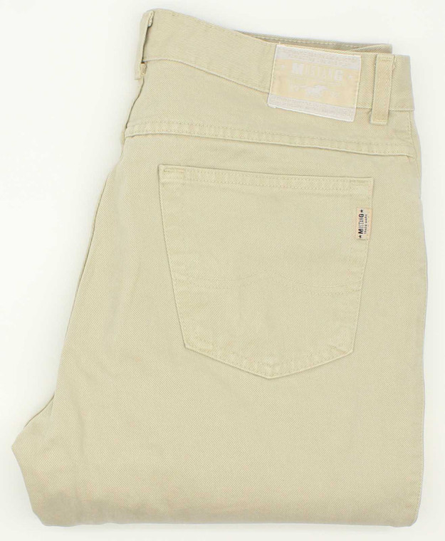 Mustang Mens Beige Straight Jeans W36 L30 image 1