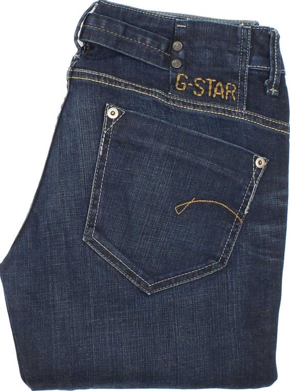 G-Star Womens Blue Straight Stretch Jeans W29 L32 image 1