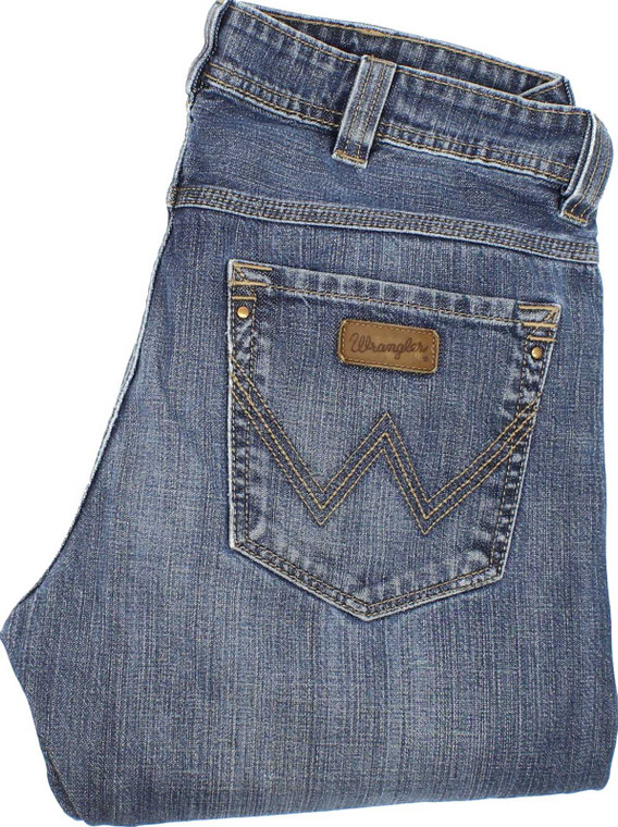 Wrangler Clyde Mens Blue Straight Jeans W32 L34 image 1