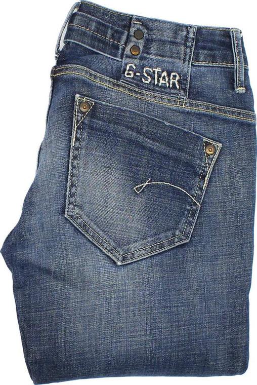 G-Star Midge Womens Blue Bootcut Stretch Jeans W26 L34 image 1