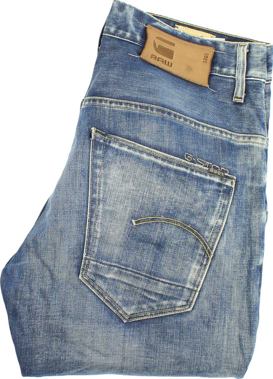 G-Star 3301 Mens Blue Tapered Jeans W30 L30 image 1