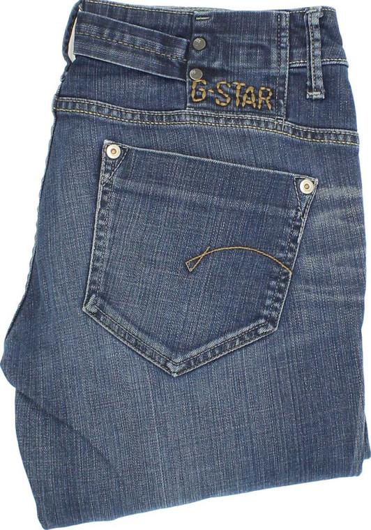 G-Star Womens Blue Straight Stretch Jeans W29 L32   Fabb Fashion image 1