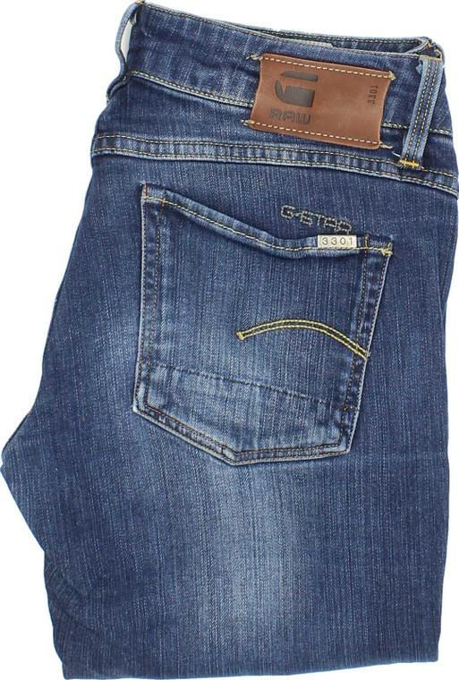 G-Star Womens Blue Straight Stretch Jeans W26 L32   Fabb Fashion image 1