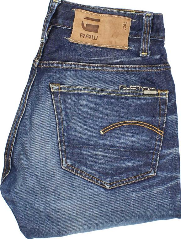G-Star 3301 Mens Blue Loose Jeans W29 L32 | Fabb Fashion image 1
