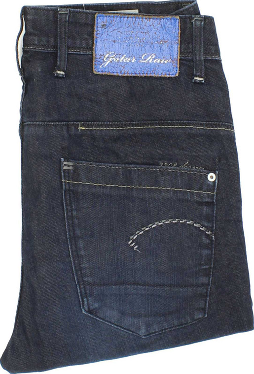 G-Star 3301 Blue Loose, Tapered Stretch Jeans High Waisted W27 L30 | Fabb Fashion image 1