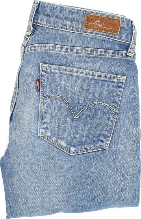 Levi's Demi Curve Womens Blue Straight Stretch Jeans W25 L29 | Fabb Fashion image 1