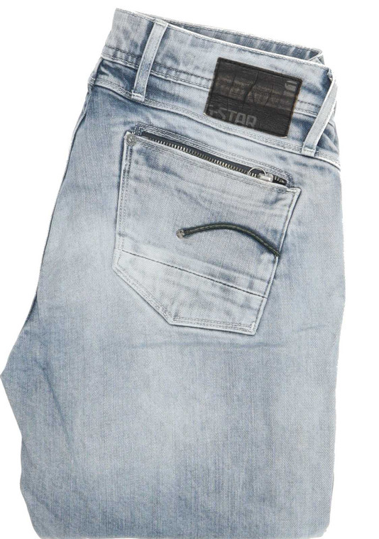 "G-Star Attacc Straight Regular W29 L28 Jeans in Good used condition please note the legs have been shortened to 28"". Fast & Free UK Delivery. Buy with confidence from Fabb Fashion. image 1"