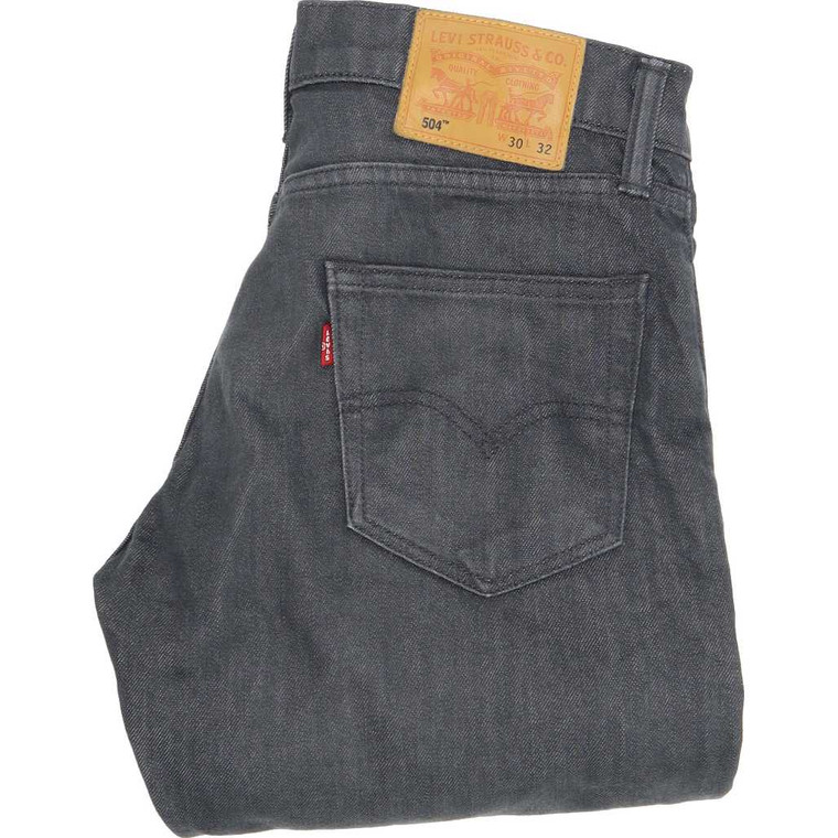 """Levi's 504 Straight Slim W30 L30 Jeans in Good used condition please note the legs have been shortened to 30"""". Fast & Free UK Delivery. Buy with confidence from Fabb Fashion. image 1"""