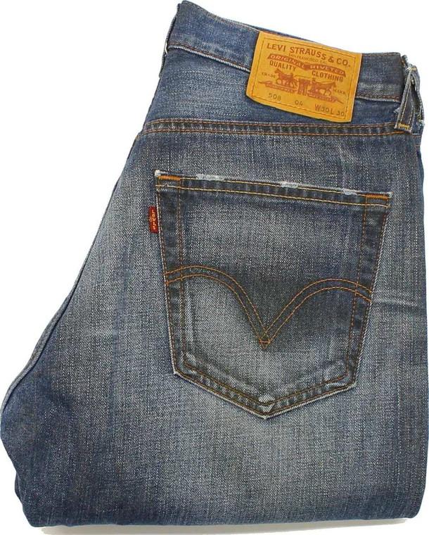 Levi's 508 Mens Blue Straight Jeans W30 L30 image 1